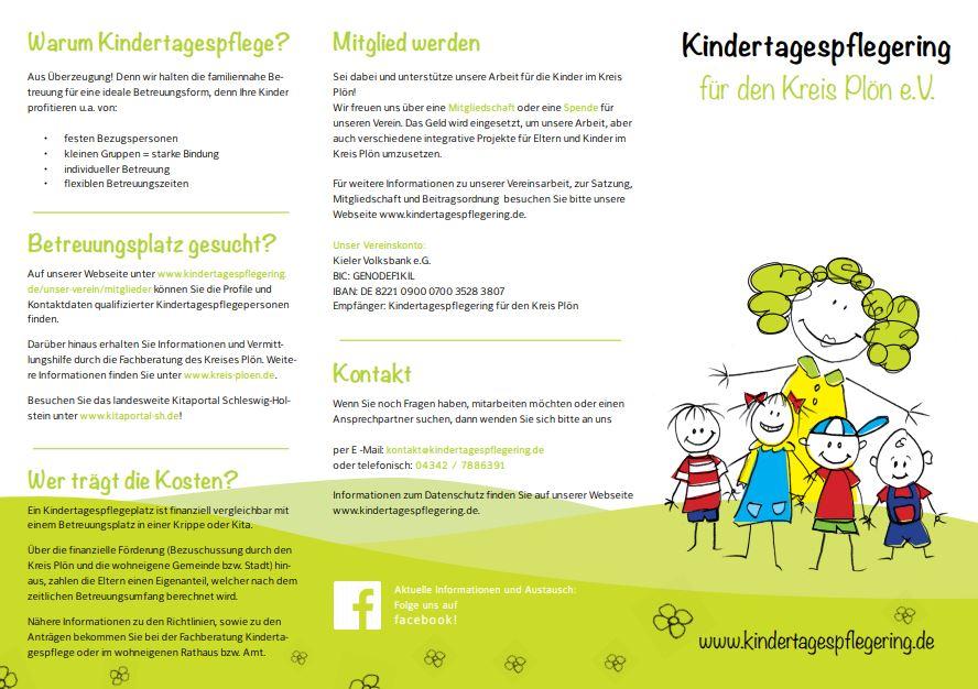 Kindertagespflegering für den Kreis Plön e.V. - Unser Flyer